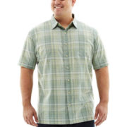 Van Heusen® Short-Sleeve Linen-Look Woven Shirt–Big & Tall