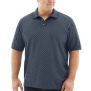 Van Heusen® Diamond-Patterned Jacquard Polo–Big & Tall