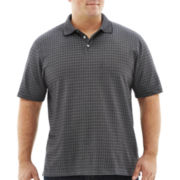 Van Heusen® Windowpane-Patterned Jacquard Polo–Big & Tall