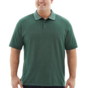 Van Heusen® Grid-Patterned Jacquard Polo–Big & Tall