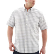 Van Heusen® Short-Sleeve No-Iron Woven Shirt–Big & Tall