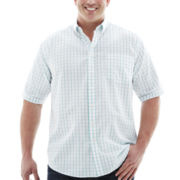 Dockers® Short-Sleeve Grid Woven Shirt–Big & Tall
