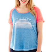 Arizona Raglan-Sleeve Graphic Tee - Plus