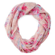 Floral Swiss Dot Infinity Scarf
