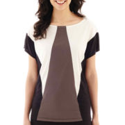 Worthington® Short-Sleeve Colorblock Top