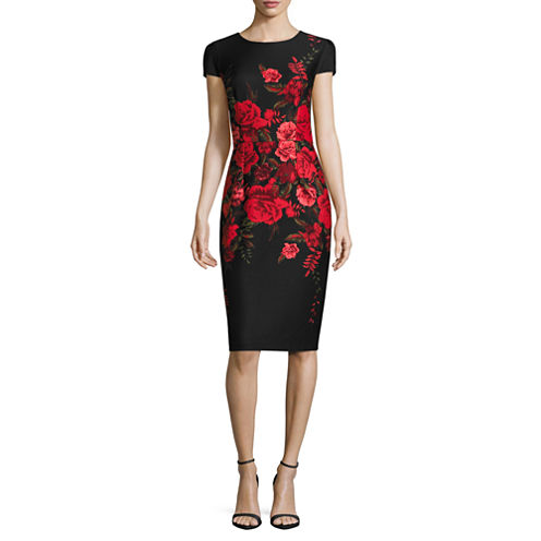Stella Parker Short Sleeve Sheath Dress