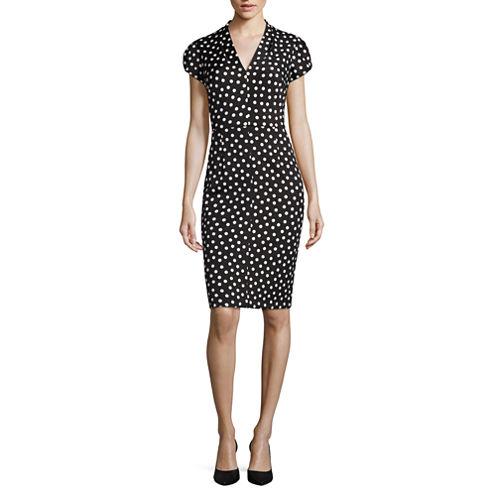 Stella Parker Short Sleeve Sheath Dress