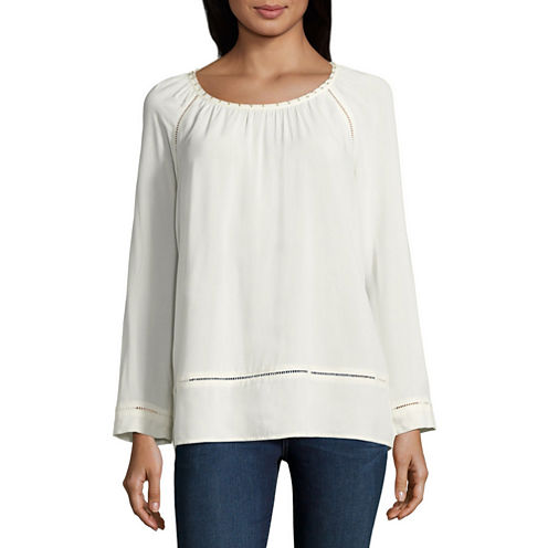 St. John`S Bay  Scoop Beaded Blouse-Talls