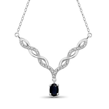 jcpenney.com | Womens Diamond Accent Blue Sapphire Y Necklace