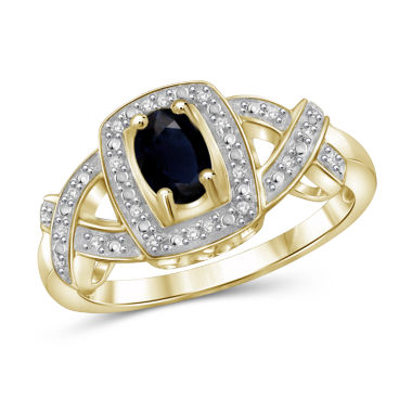 jcpenney.com | Womens Diamond Accent Blue Sapphire Gold Over Silver Band