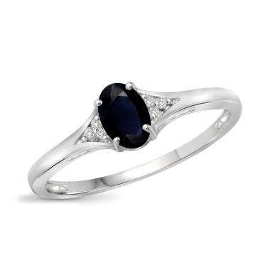 jcpenney.com | Womens Diamond Accent Blue Sapphire Sterling Silver Band