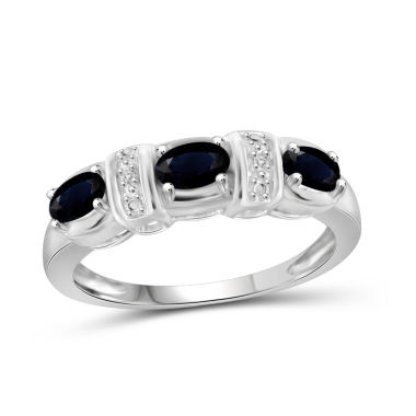 jcpenney.com | Womens Diamond Accent Blue Sapphire Sterling Silver 3-Stone Ring