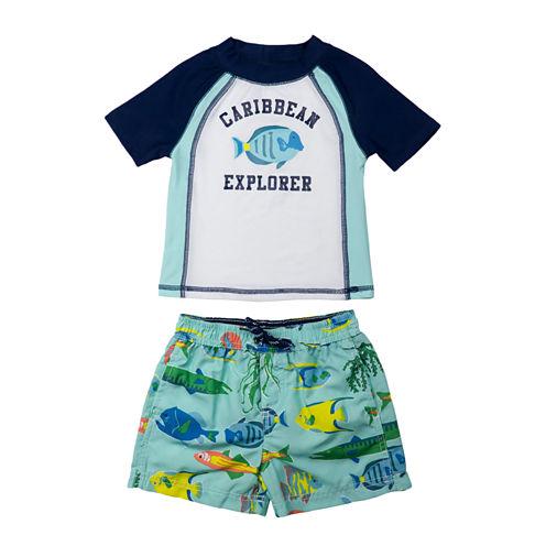 Carter's Pattern Rash Guard Set - Preschool