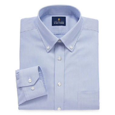 jcpenney.com | Stafford Executive Non-Iron Cotton Pinpoint Oxford - Big & Tall Long Sleeve Dress Shirt