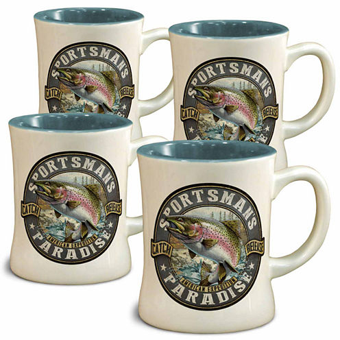 American Expedition Rainbow Trout Diner Mugs - Setof 4
