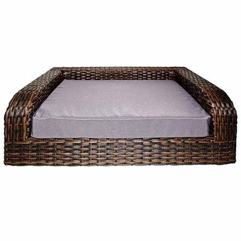 Iconic Rattan Sofa Pet Bed