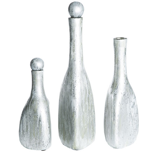Knox And Harrison Glass Shimmering Decorative Bottles