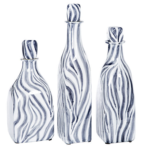 "Knox And Harrison 18"" Striped Decorative Bottles"