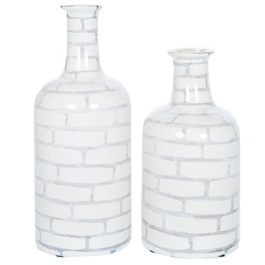 "jcpenney.com | Knox And Harrison 18"" Striped Opaque Decorative Bottles"