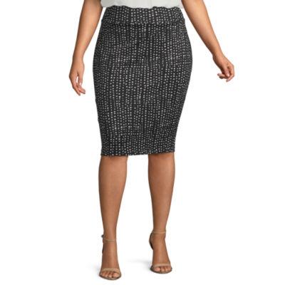 ,3X 24W-26W 28W-30W ,2X Womens 1X Red High Waist Mid Pencil Skirt! 20W-22W