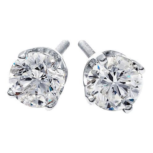 1/2 CT. T.W. Round Diamond Stud Earrings