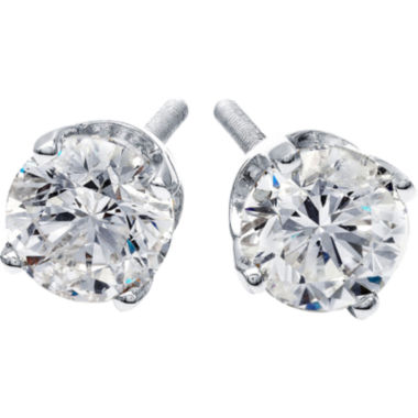 jcpenney.com | 1 CT. T.W. Diamond Stud Earrings 14K White Gold
