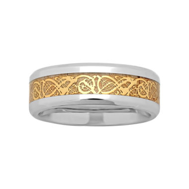 jcpenney.com |  Mens Two-Tone Celtic Dragon Wedding Band