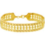 14K Gold-Plated Sterling Silver Cleopatra Bracelet