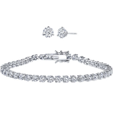 jcpenney.com | DiamonArt® Cubic Zirconia Earring and Bracelet Set