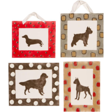jcpenney.com | Cotton Tale Houndstooth 4-pc. Wall Art