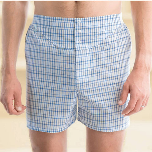 Stafford® 3-pk. Woven Blended Cotton Yoke–Front Boxers–Big & Tall