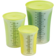 Chef'n® Sleekstor Pinch+Pour Measuring Beaker Set with Lids