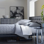 Jackson Leather Upholstered Bed