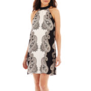 Bisou Bisou® Sleeveless Halter Trapeze Dress