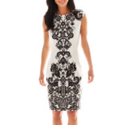 Liz Claiborne Sleeveless Print Sheath Dress
