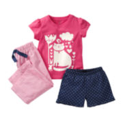 Carter's® 3-pc. Kitty Pajamas - Girls 12m-24m