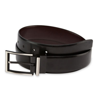 jcpenney.com | JF J. Ferrar® Reversible Leather Belt w/ 2-Tone Buckle