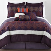 Home Expressions™ Adira 10-pc. Argyle Comforter Set & Accessories