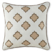 Milano Gold Square Decorative Pillow