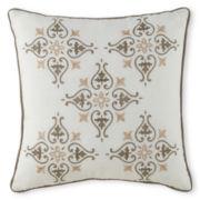 Milano Gray Square Decorative Pillow