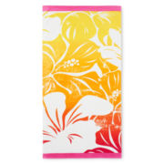 JCPenney Home™ Brilliant Hibiscus Beach Towel