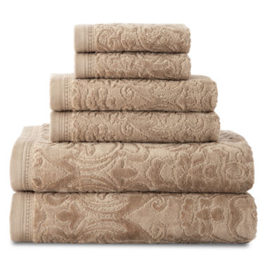 jcpenney.com | Royal Velvet® Sculpted 6-pc. Bath Towel Set