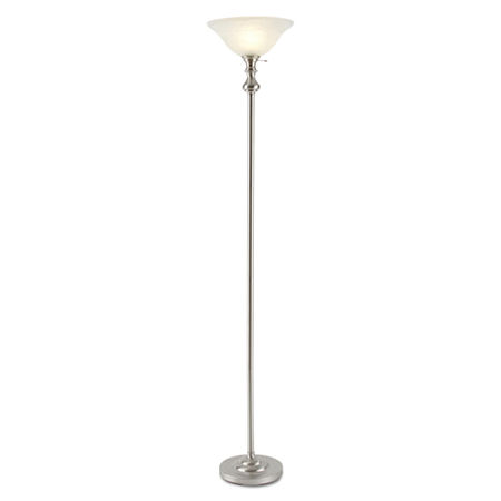 Jcpenney Home Brushed Nickel Torchière Floor Lamp | Fiveopia