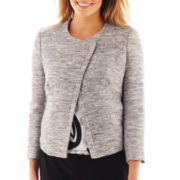 Liz Claiborne Long-Sleeve Asymmetrical Jacket - Tall