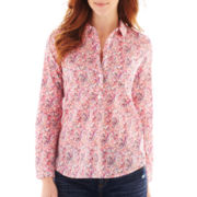 Liz Claiborne Long-Sleeve Paisley Shirt