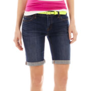 jcp™ Denim Bermuda Shorts