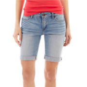 jcp™ Denim Bermuda Shorts - Tall