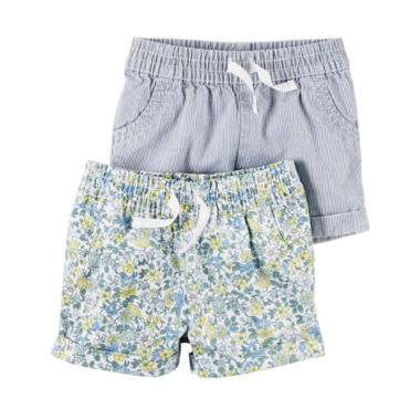 jcpenney.com | Carter's Pull-On Shorts Baby Girls