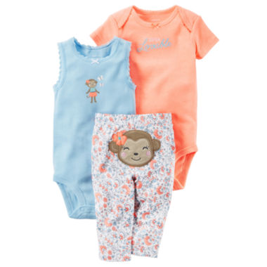 jcpenney.com | Carter's Bodysuit Set-Baby Girls