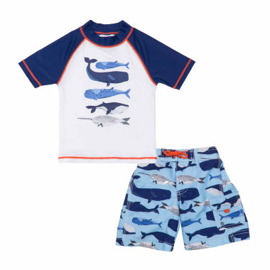 jcpenney.com | Carter's Pattern Rash Guard Set - Baby